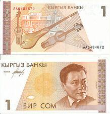 Kirgisistan /  Kyrgyzstan - 1 Som 1994 UNC - Pick 7