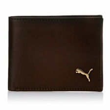 Puma Men Brown Genuine Synthetic Leather Wallet (4 Card Slots)