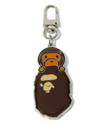 A BATHING APE BAPE BABY MILO Metal Keychain Key Ring Keyring Pendant Key Holder