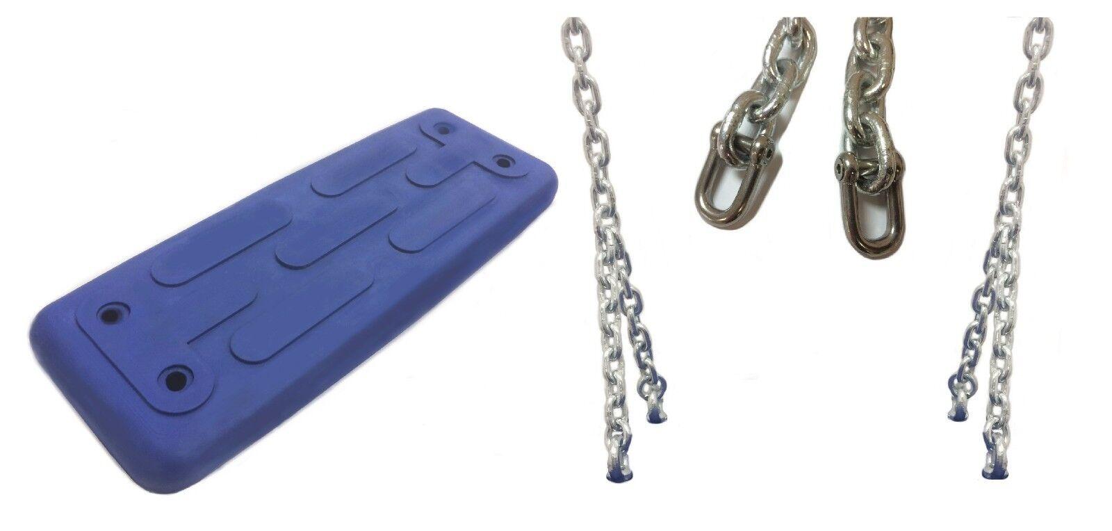 48cm blauer Schaukelsitz u. inklusive Kettenzubehör