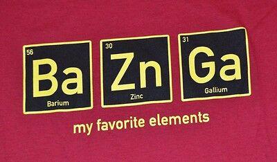 Big Bang Theory Bazinga Adult T Shirt Periodic Table Barium Zinc Gallium Tee Ebay
