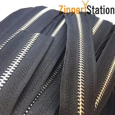 Continuous Zip Chaîne #3 #5 #8 ou #10 avec fermeture à glissière en nylon à fermeture 1 2 5 ou 10 m