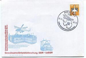Marque De Tendance 1986 Gemeinsame Antarktisforschung Ddr Udssr Potsdam Polar Antarctic Cover