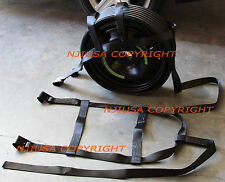 2x Car Basket Straps Adjustable Tow Dolly DEMCO Wheel Net Set Flat Hook BLACK