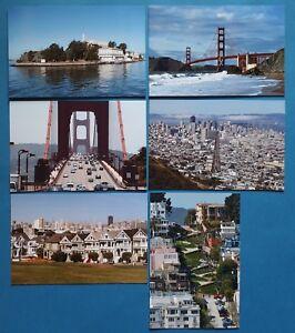 Quality-Set-of-6-Brand-New-Glossy-Postcards-San-Francisco-California-USA