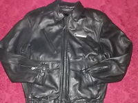 Harley Davidson Men's Leather Jacket Size Medium Black Leather Removable Liner