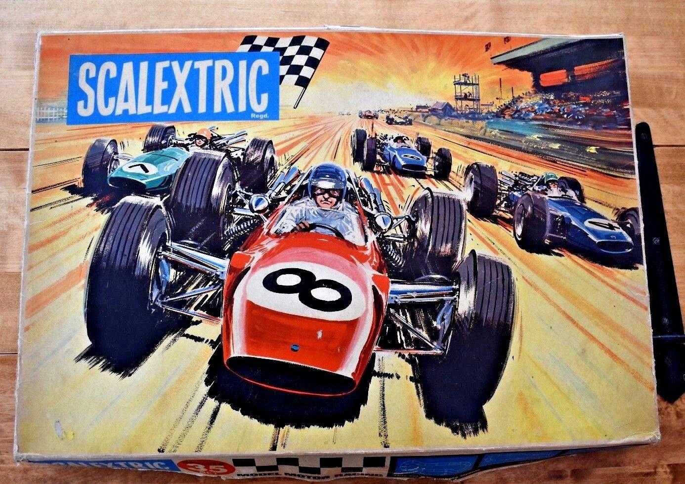 Vintage 1968 Scaleptic Sports 35 Set; Original låda