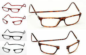 084637e352 Image is loading 3-00-Tortoiseshell-Horn-rims-Magnetic-Reading-Glasses-
