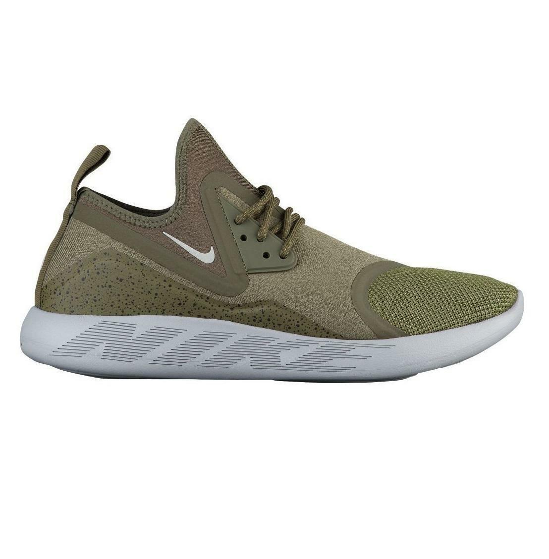 Mens NIKE LUNARCHARGE ESSENTIAL Medium Olive Trainers 923619 200