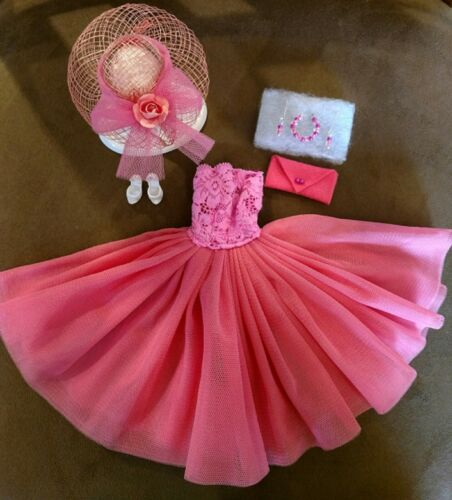 BARBIE FASHION HOT PINK /& MELON PARTY DRESS  MINT MY FAVORITE SPECIAL OFFER!