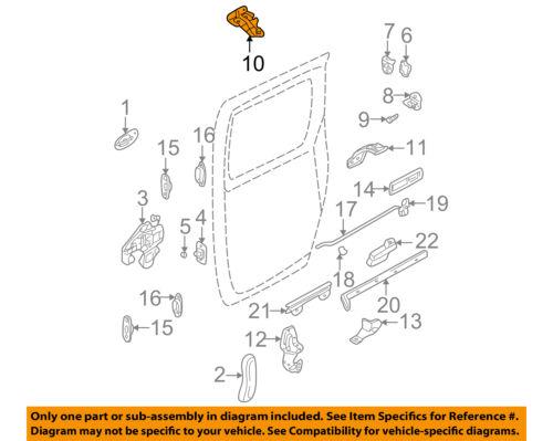 KIA OEM 02-05 Sedona Side Sliding Door-Roller Right 0K55272210D