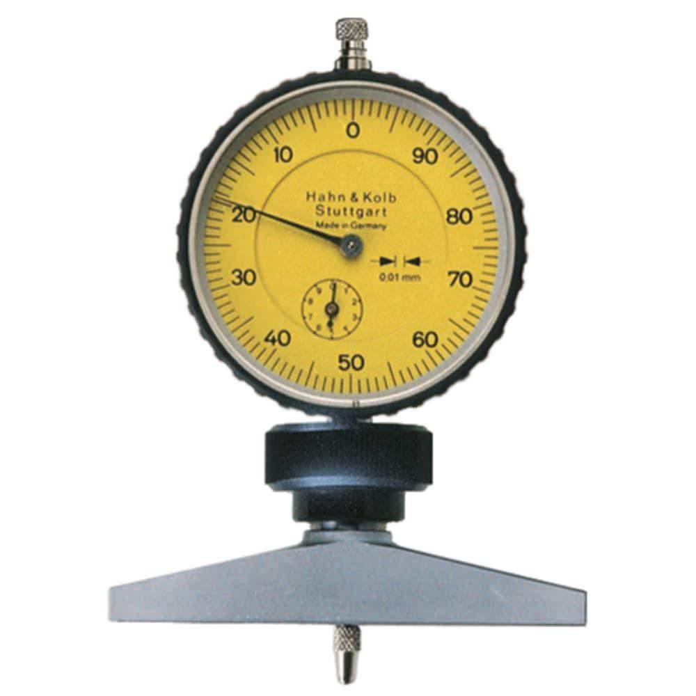 Hausmarke Tiefenmessgerät mit Uhr 0,01 mm Skalenteilungswert