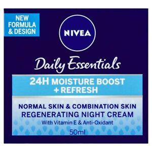 Nivea Daily Essentials Regenerating Night Cream Normal & Combination Skin 50 ml