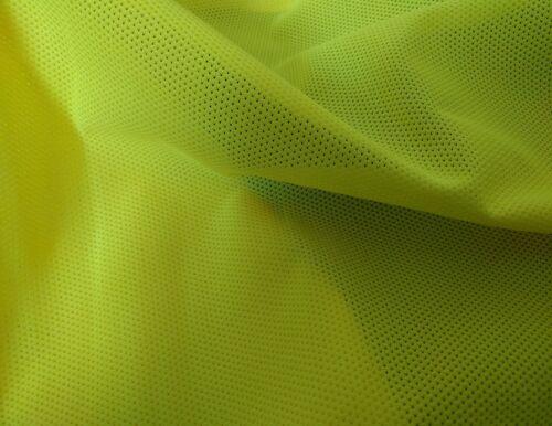 Hi Vis Jaune-Mesh-Polyester-Tissu Matériau Tissu-Largeur 155 cm 4oz*