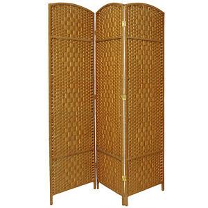 Oriental Furniture 7 ft. Tall Diamond Weave Room Divider