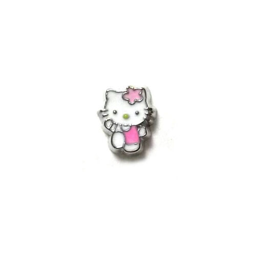 USE WITH MEMORY GLASS LOCKET FLOATING CHARMS KITTY SKIPPING