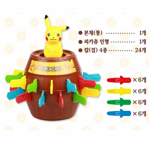 Pokemon Pikachu Roulette Trick Game TV Pop up Game Family Kids Toy