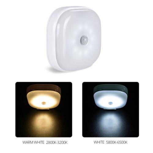 Smart Motion Sensor LED Wall Lamp Cordless AAA Hallway Bedroom Home Night Light