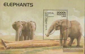 Laos-Block162-kompl-Ausg-postfrisch-1997-Elefanten