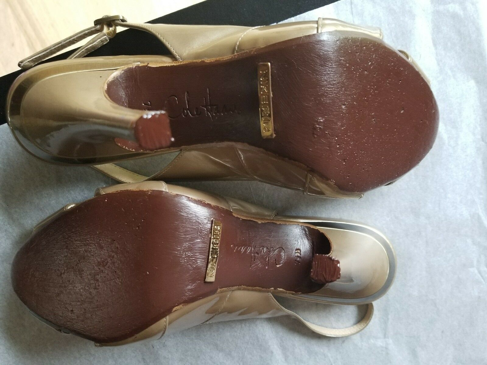 Cole Haan NikeAir nude formal formal formal slingbacks, Sz 7.5 B 13045b