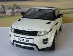 PERSONALISED-PLATE-Gift-White-1-24-RANGE-ROVER-EVOQUE-Boys-Toy-Dad-Model-Boxed