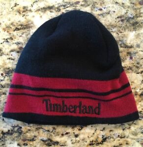 Details about Timberland Knit Hat~Black~Youth~8 20