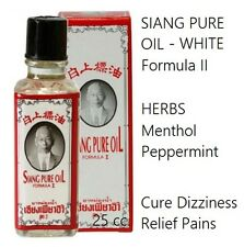 SIANG PURE Oil White Formula2 Menthol Peppermint Herb Relief Pain Dizziness 25cc