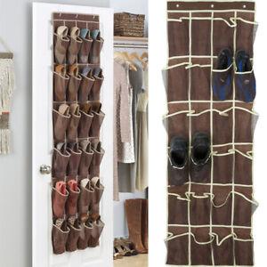 24-Pocket-Shoe-Space-Door-Hanging-Organizer-Rack-Wall-Bag-Storage-Closet-Holder