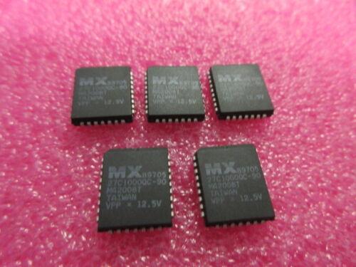 27C1000 Eprom CMOS 128K X 8 1M-BIT ** ** X 5 PLCC 32 MX27C1000QC-90 Reino Unido Stock