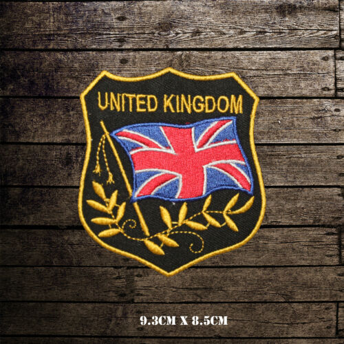 United Kingdom Flag Embroidered Iron On Sew On Patch Badge For Clothes etc