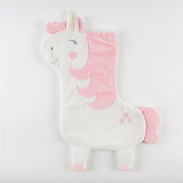 "Sass /& Belle Pink Unicorn 18/"" Christmas Stocking Xmas Santa Fun Kids Bag Gift"