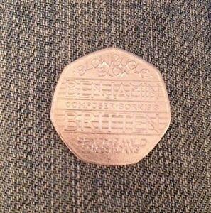 Benjamin-Britten-2013-50p-coin-Fifty-pence-RARE