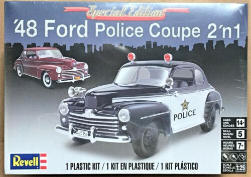 Revell 1//25 1948 Ford Police Coupe 2/'n1 Plastic Model Kit