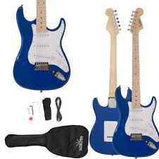 New Glarry ST Maple Blue Electric Guitar + Bag + Shoulder Strap+ Cord +Pick US
