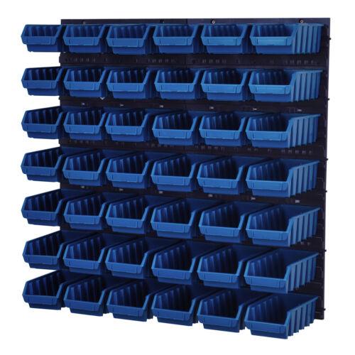 Stapelboxen Wandregal Box Schüttenregal Lagersystem Sichtlagerkästen 42 Boxen