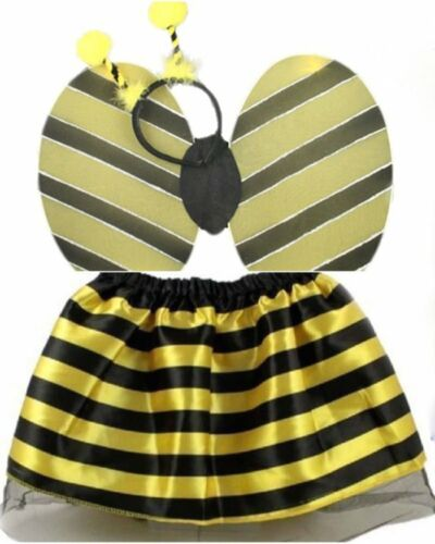 BUMBLE BEE OR LADYBIRD FANCY DRESS COSTUME TUTU WINGS HEAD BOPPER SET