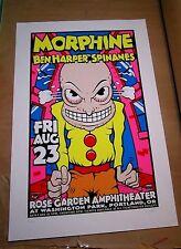 Morphine Ben Harper 1996 S/N Original Concert Screen Print Poster Uncle Charlie