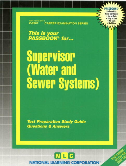 NEW Supervisor Water And Sewer Systems Test Practice Passbook Upcoming Exam
