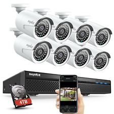 SANNCE H.264+ 5MP 8CH NVR 1080P POE Audio Recording Security Camera System Onvif