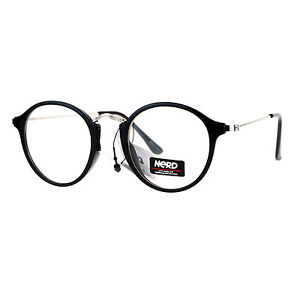 Nerd-Eyewear-Clear-Lens-Glasses-Vintage-Fashion-Round-Frame-Eyeglasses