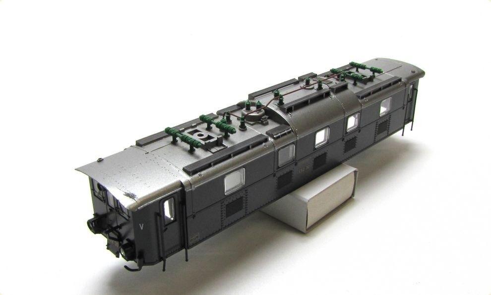 Ersatz-Gehäuse DRG E52 30 grün z.B. für MÄRKLIN 37661 Elektrolok E 52 H0