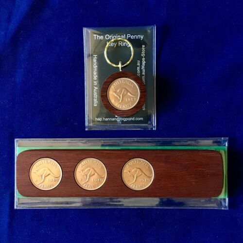 100th Wedding Anniversary Gift 1919 Jarrah Two-Up Game /& Penny Keyring GiftPack