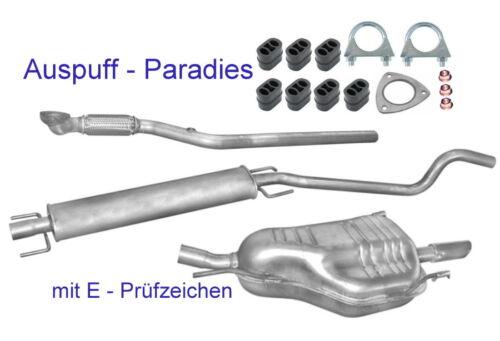 Abgasanlage Auspuff ab Kat Opel Astra G CC 1.6 16V Fließheck T98 ab Bj.2003+Kit