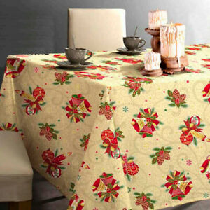 Limol 100 Cotton Christmas Tablecloth Made In Portugal Ebay