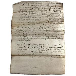 1736-Europe-Document-Government-Legal-Paper-Record-Authentic-Manuscript-Antique