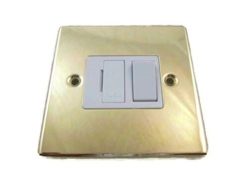 Volex traditionnel laiton 13A fusible interrupteur unité de raccordement part no DEC442