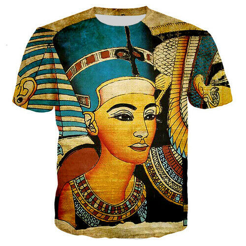 3D Print Ancient Egyptian Graphics Women Men T-Shirt Short Sleeve Tees Oversized