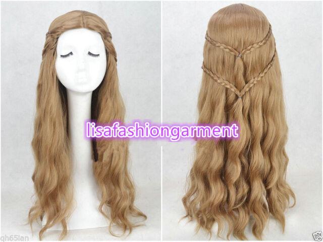 New Game of Thrones Cersei Lannister Popolar Cosplay Wig 2 Braid Cos Wig/Wig cap