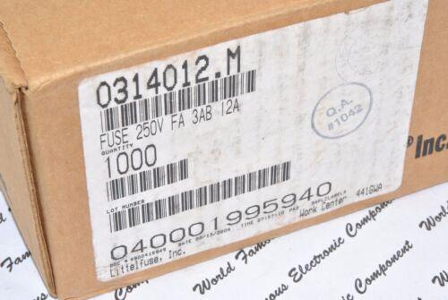 0314012.M 1pcs LITTELFUSE 12A 250V 6.3x32mm 314 Series 3AB Ceramic Fuse