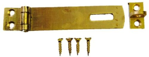 Hasp and Staple Small Brass Cabinate Lock Latch Furniture Catch 75mm Fittings